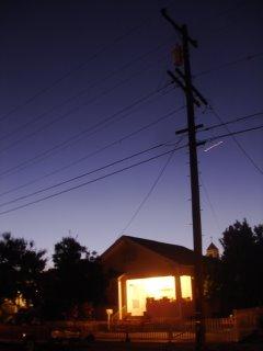 san leandro suburban skyline at dusk